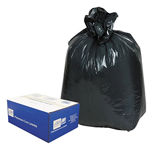 Classic 242315B 2-Ply Low-Density Can Liners, 7-10gal, .6mil, 24 x 23, Black (Case of 500) (Opaque Liner)