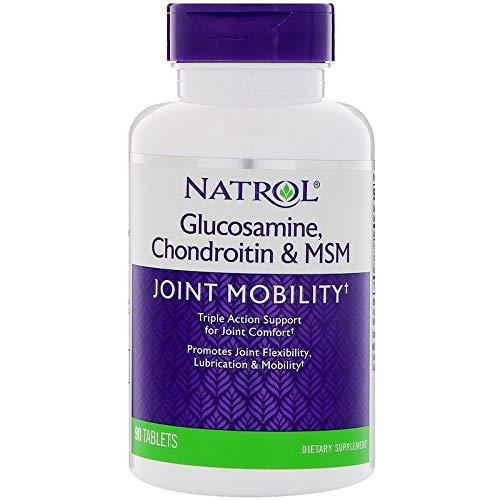 Natrol Glucosamine Chondroitin MSM 90 Tablets