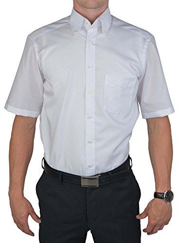 Olymp Luxor kurzarm Hemd Modern Fit - weiss, Kragenweite:40