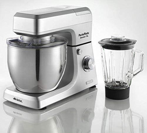 Ariete 1598/1 Robot de cocina gourmet con jarra de vidrio 1.5 L Pastamatic, 1200 W, Plata: Amazon.es: Hogar