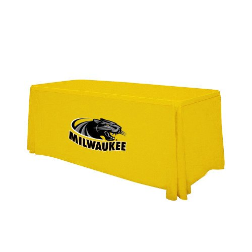 Wisconsin Milwaukee Gold 6 foot Table Throw 'Official Logo' by CollegeFanGear