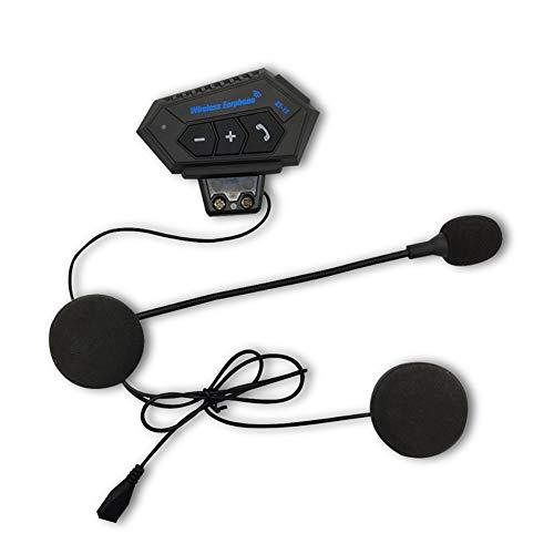 Helmet Headset Bluetooth Headphones with Microphone BT-12 Bluetooth Soft Stereo Helmet Headset Motorcycle Interphone,Wireless Helmet Heaphones,Motor Helmet Headset