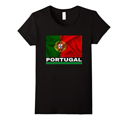 Womens Portugal Flag T-Shirt Portuguese Pride Jersey Large - Women Portugal