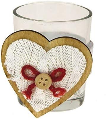 Alice s Festivos para navideño de Cristal decoración Corazón de Lana Caja de 12 Unidades: Amazon.es: Hogar