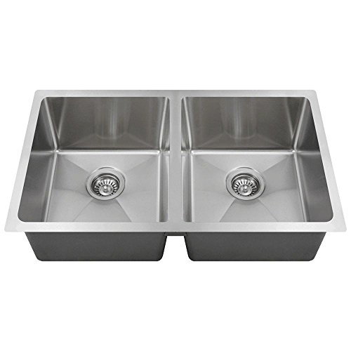 - 3120D 18-Gauge Undermount Double Bowl 3/4-Inch Radius Kitchen Sink