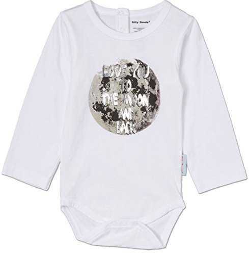 Silly Souls Love You to The Moon & Back LS Baby Boy Girl Onesie White -