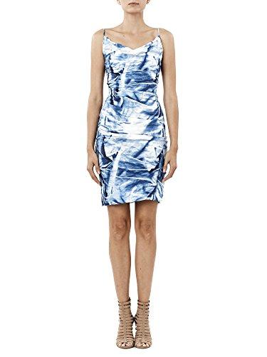 (Nicole Miller Women's Faux Metal Carly Tuck Dress, Blue/Multi, 8)