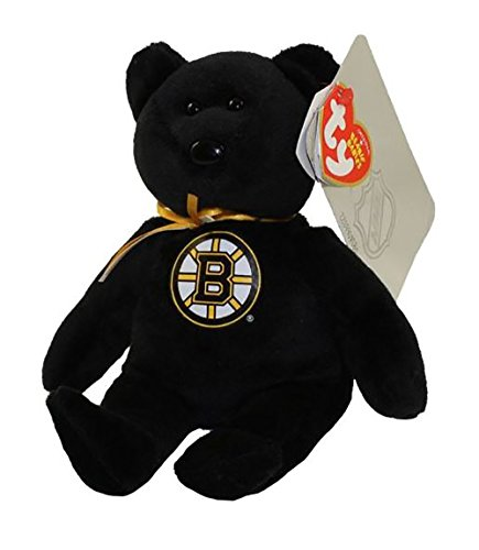 ty Boston Bruins NHL Beanie Baby Teddy Bear Plush 8.5
