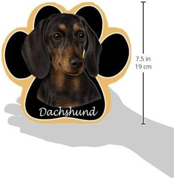 Black Dachshund Dog Paw Non-Slip Mousepad