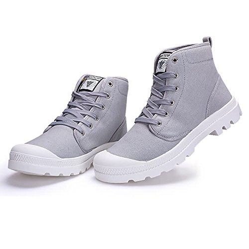 Outsole Color Grigio Size Autunno Estate e donna Sneaker fino antiscivolo moda 47EU Stringate Large 2018 EU 41 Canvas High Shoes uomo Top alla taglia Dimensione ZxfqRA