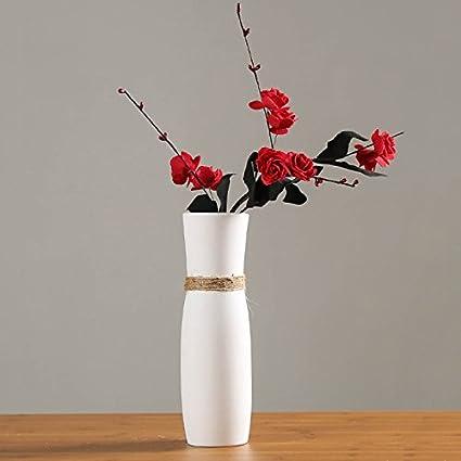Amazon Pannow White Ceramic Vases Tall Decorative Flower Vases
