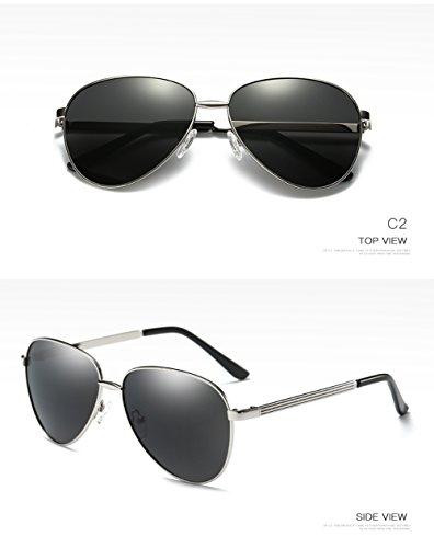 Aviator Gafas 400 Polarizadas para C2 C4 Hombre para Sol Protección UV Mujer De FRR6pwant