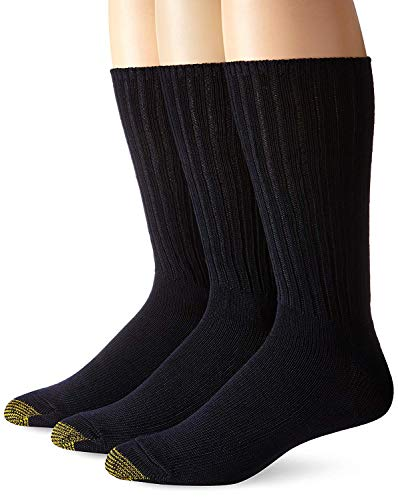 Gold Toe Men's Cotton Fluffies Casual Sock, Sock Size 10-13,Shoe Size 6-12.5, Navy, 3 Pack