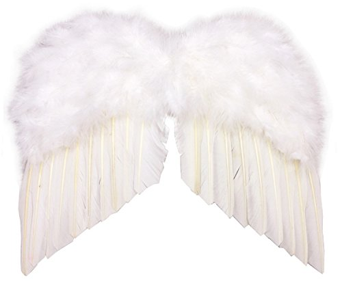 Realistic Angel Wings Costume (Patymo Realistic White Angel Wings (Costume Add-On) -- Child Size)