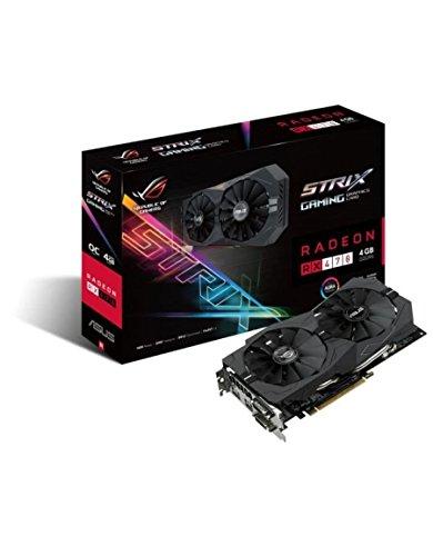 ASUS ROG-STRIX-RX470-4G-GAMING AMD Radeon RX 470 4GB - Tarjeta gráfica (Activo, AMD, Radeon RX 470, GDDR5, PCI Express 3.0, 5120 x 2880 Pixeles)