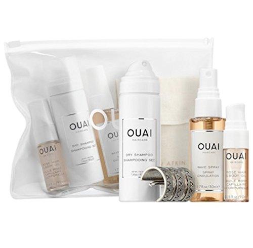 Ouai Desert OUAIsis Festival Kit: Rose Hair & Body Oil, Dry Shampoo Foam, Wave Spray, Jen Atkin x Chloe + Isabel Ponytail Piece (Limited Edition) by Ouai