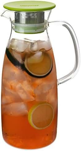 FORLIFE Mist Glass Ice Tea Jug , 50-Ounce, Lime