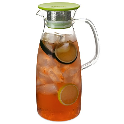 FORLIFE Mist Glass Ice Tea Jug , 50-Ounce, Lime