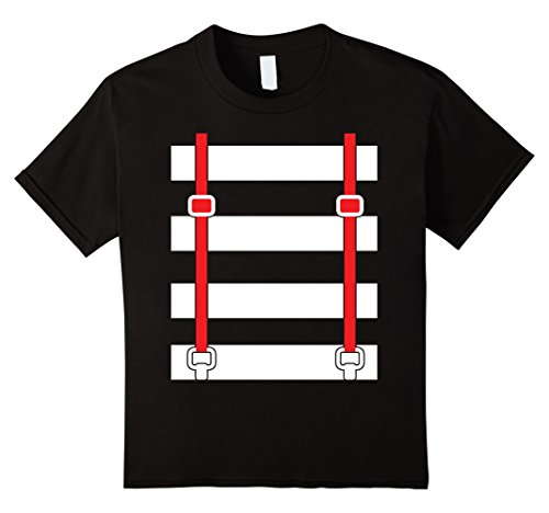 Kids Funny Suspenders Striped White Rabbit Twins T-Shirts...
