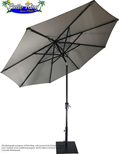 Treasure Garden - 11' ft Auto Tilt Umbrella (Boulder) 11' Auto Tilt Umbrella