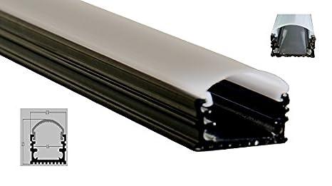 U ac m profilo in alluminio nero per strisce led light