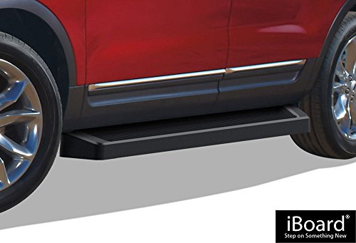iBoard Black Running Boards Style Custom Fit 2011-2017 Ford Explorer Sport Utility 4-Door (Nerf Bars | Side Steps | Side Bars)