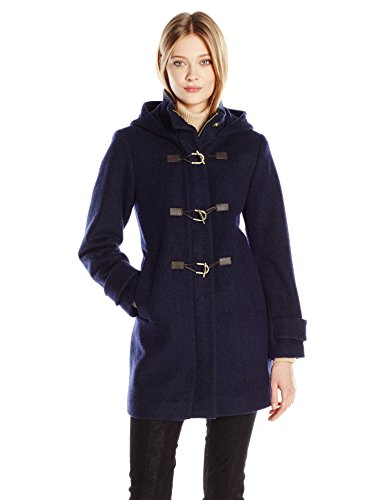 Vince Camuto Women's Toggle Coat, Navy, Large Womens Toggle Coat