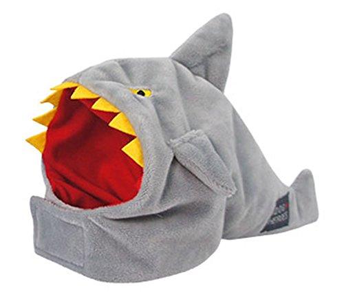 iDog Japan Heroes Ferocious Shark Snood Dog Halloween Costume (Small, Grey)