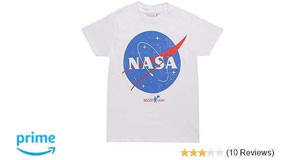 836b5064d873 Amazon.com: Bioworld NASA Logo White T-Shirt: Clothing