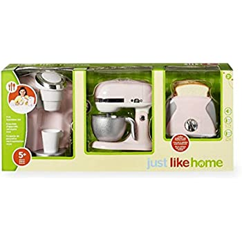 Amazon.com: just like home Kids Kitchen Pink Appliance Set: Toys & Games