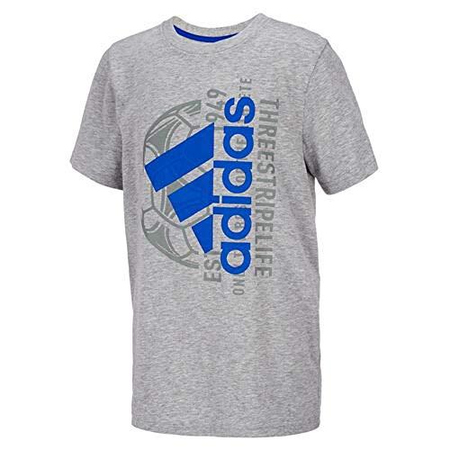 adidas Boys Mantra Sports T Shirt, Grey/Heather