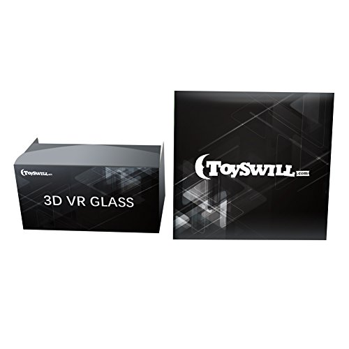 Toyswill Google Cardboard 3D VR Glasses Virtual Reality Glasses for 3D Movies and Games