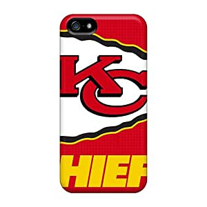 AlissaDubois Iphone 5/5s Durable Hard Phone Cases Customized Stylish Kansas City Chiefs Series [KQF18781gqyu]