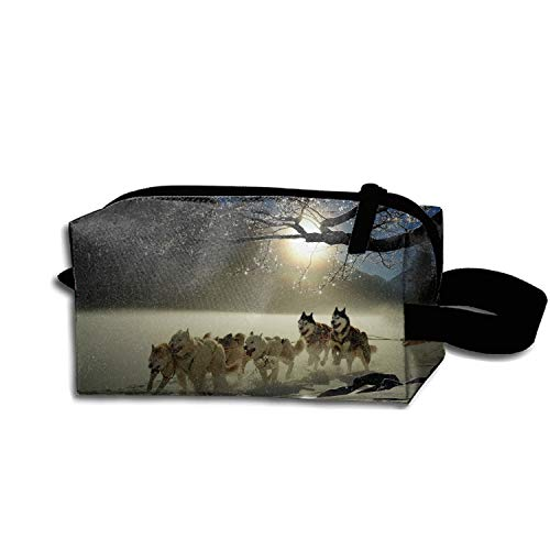 Used, Sled Dog Race Makeup Pouch Zipper Coin Organizer Durable for sale  Delivered anywhere in USA