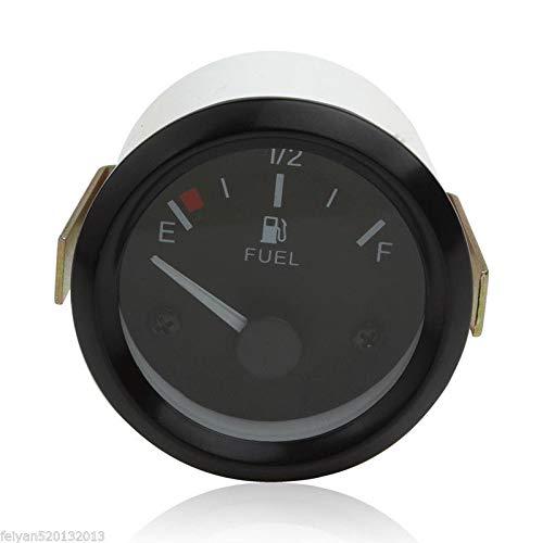 52 mm Medidor de nivel de combustible para coche con sensor de combustible puntero universal E-1//2-F