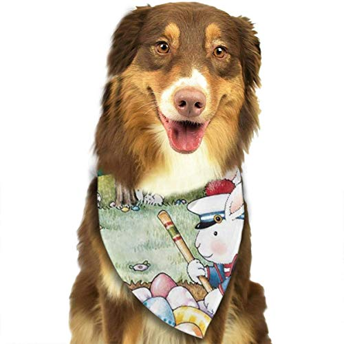 Pedgssories Dog Bandana Easter Mary Engelbreit Scarves Accessories Decoration for Pet Cats and Puppies