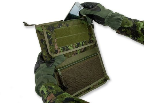 tactical 3-ring binder cover  large  zippered military field admin  u0026 map case