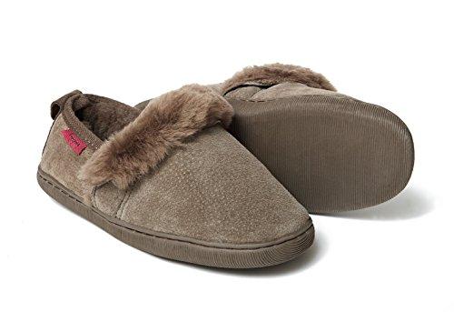 Zapatillas de casa de piel de oveja RODAS Marrón