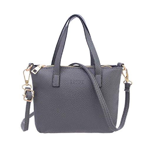 Women Handbags Shoulder Bag PU Leather by Coerni (Grey)
