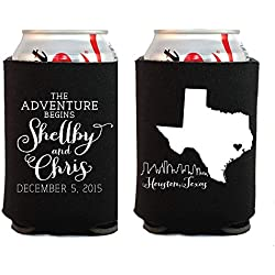 Let The Adventure Begin Wedding Favors State Wedding Favor Wedding Favors Choose Your Own State Skyline Wedding Favors Can Cooler