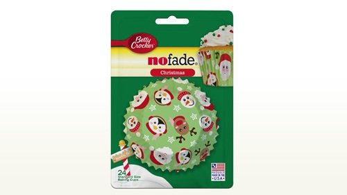 Betty Crocker NoFade Baking Cups / Cupcake Liners (Christmas (Santa & Friends))