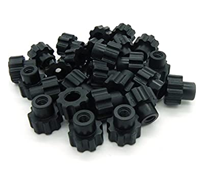 Black Nylon - 10-24 Knurled Thumb Nuts 25pack from KC Pet Products LLC
