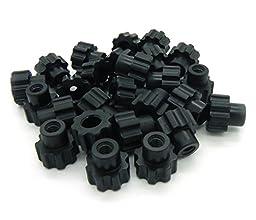Black Nylon - 10-24 Knurled Thumb Nuts 25pack
