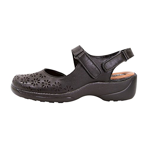 cheap latest collections cheap marketable Peerage FIC Kylie Women Wide Width Leather Slingback Comfort Sandal for Everyday (Size/Measurement Guide) Black reliable cheap price xNBcWlSh