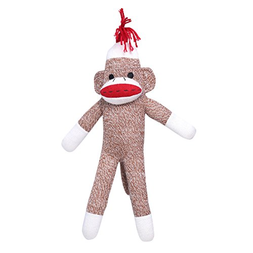 HollyHOME Sock Monkey Knitted Toy Stuffed Animal Plush Doll Gift 17.5 Inches -