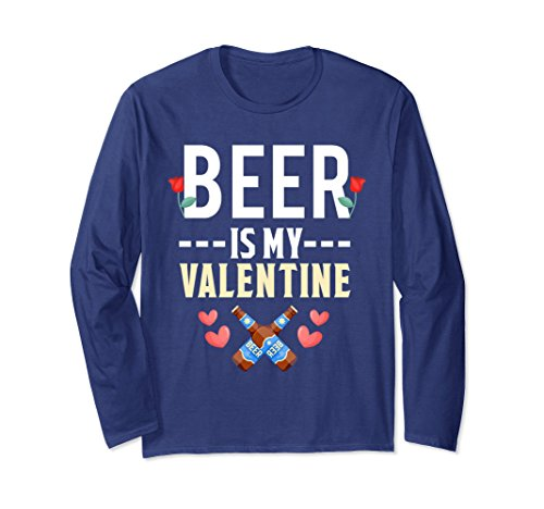 Unisex Beer Is My Valentine Shirt Valentines Day Love Couples 2XL Navy