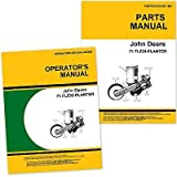 John Deere 71 Flexi Planter Owners Operators Manual Parts Catalog Set with Instructions for Operating Maintenance and Adjustments, Parts Names, Numbers, Exploded Views for Assembly Seed Rates