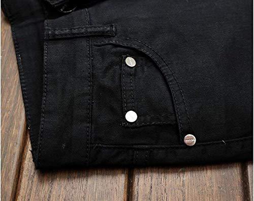 Alla Cotone Uomo Discoteca Ragazzo T Dritto Jeans Denim Da Originali Cowboy Tendenza Pantaloni Marchio Classico Slim Nero In Chiusura Realismo Moda Ssig 5q4w0SxtnS