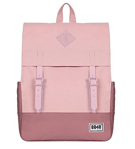 Autumn Fashion Korea/Japan Girl Style Waterproof Canvas Backpack Teenagers Women Casual Pink