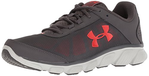 Under Armour Men's Micro G Assert 7 Running Shoe, Charcoal (102)/Radio Red, 11 M